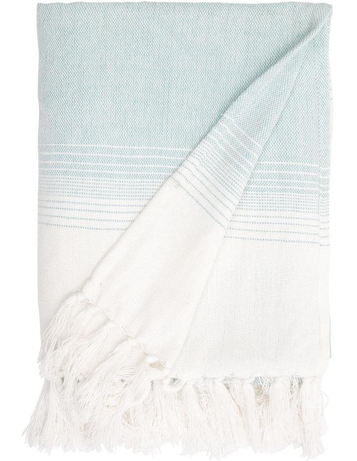 Tyabb Capri Stripe Throw in Blue image 1
