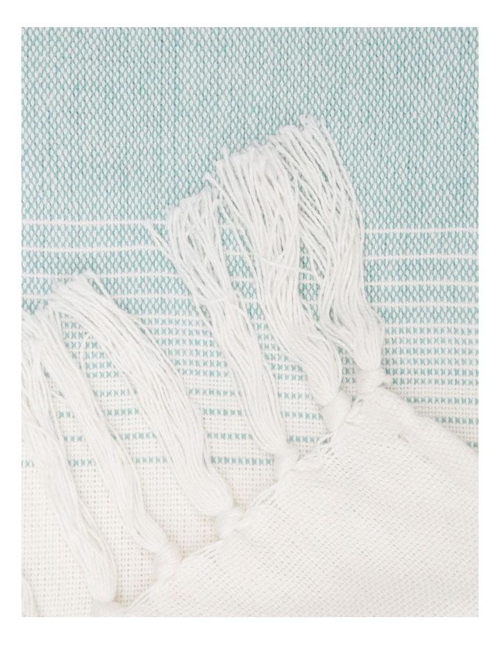 Tyabb Capri Stripe Throw in Blue image 2