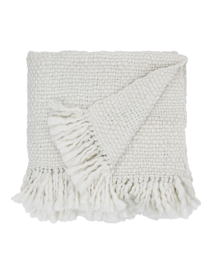 Sullivan Chunky Knit Throw in Off White image 1