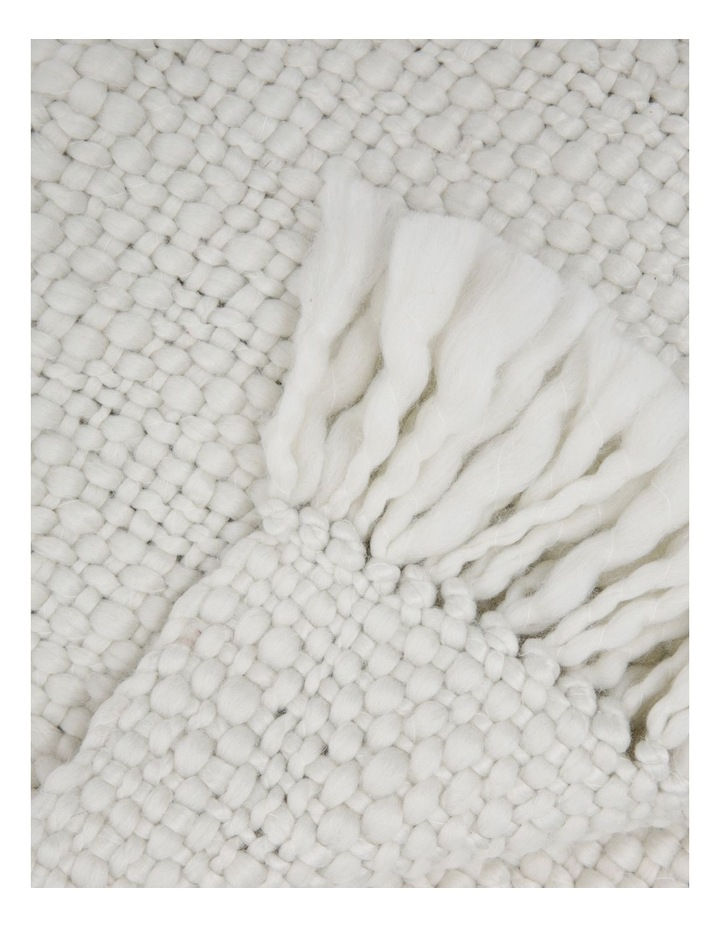 Sullivan Chunky Knit Throw in Off White image 2