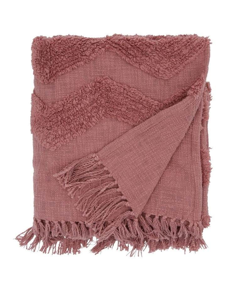 Osiris Knit Throw with Tufting in Clay image 1