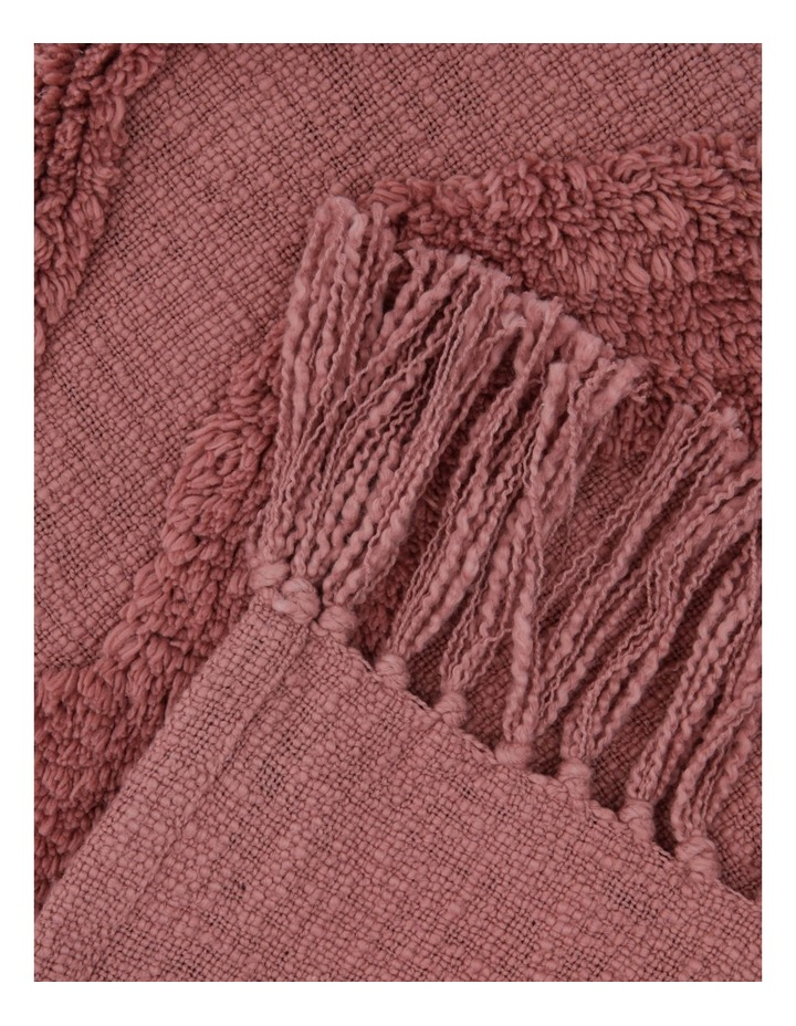 Osiris Knit Throw with Tufting in Clay image 2