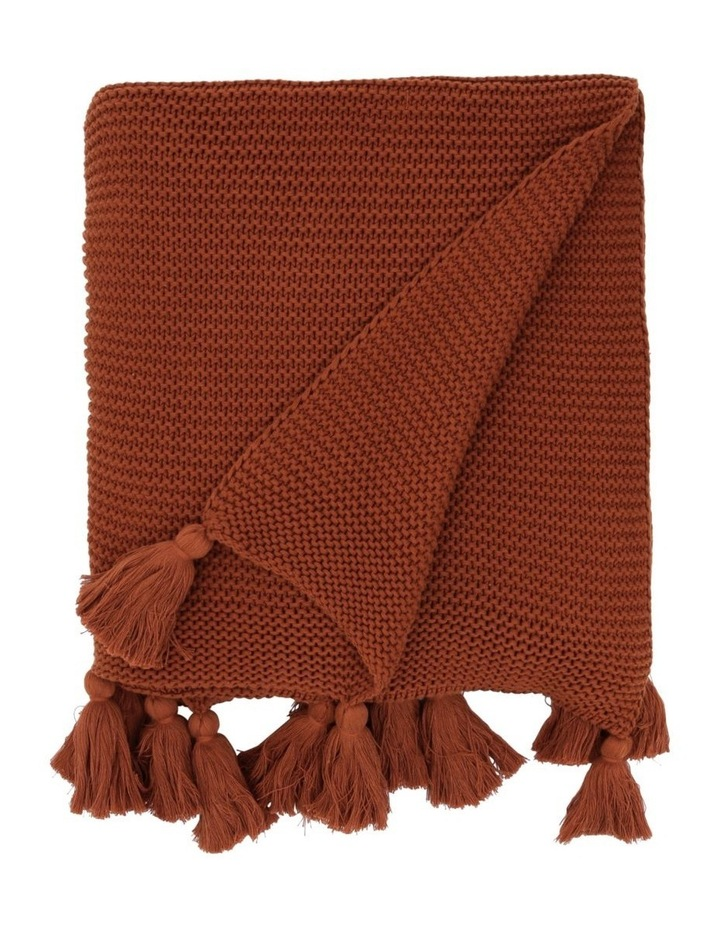 Melaky Tassel Throw in Terracotta image 1
