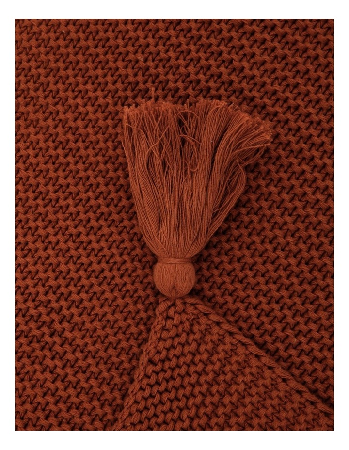 Melaky Tassel Throw in Terracotta image 2