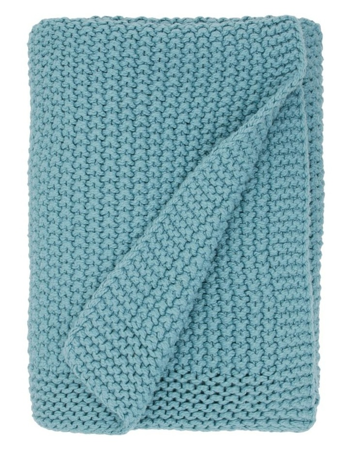 Norwood Knitted Throw in Ocean Blue image 1