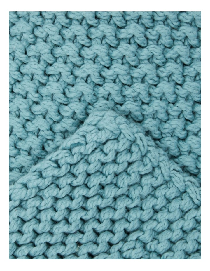 Norwood Knitted Throw in Ocean Blue image 2