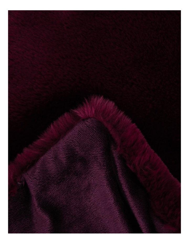 Amelie Faux Fur Throw 127x152cm Maroon image 2