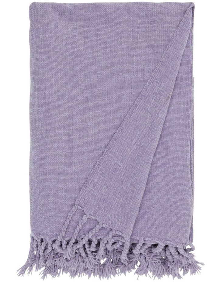 Chenille Throw in Lilac image 1