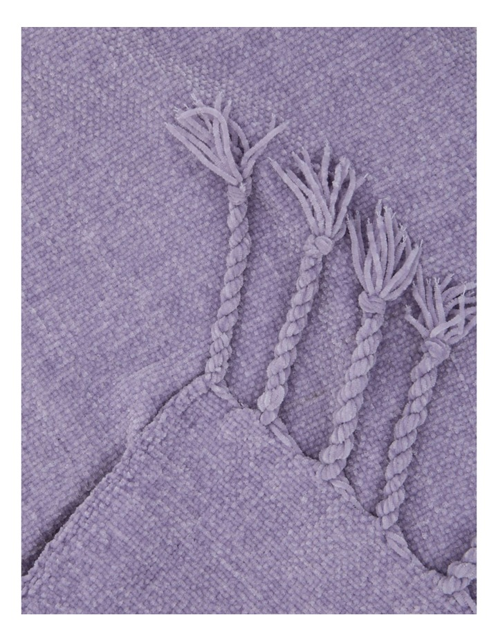 Chenille Throw in Lilac image 2