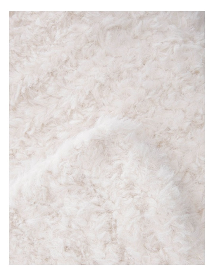 Eastleigh Faux Rabbit Fur Knit Throw in Off-White image 2