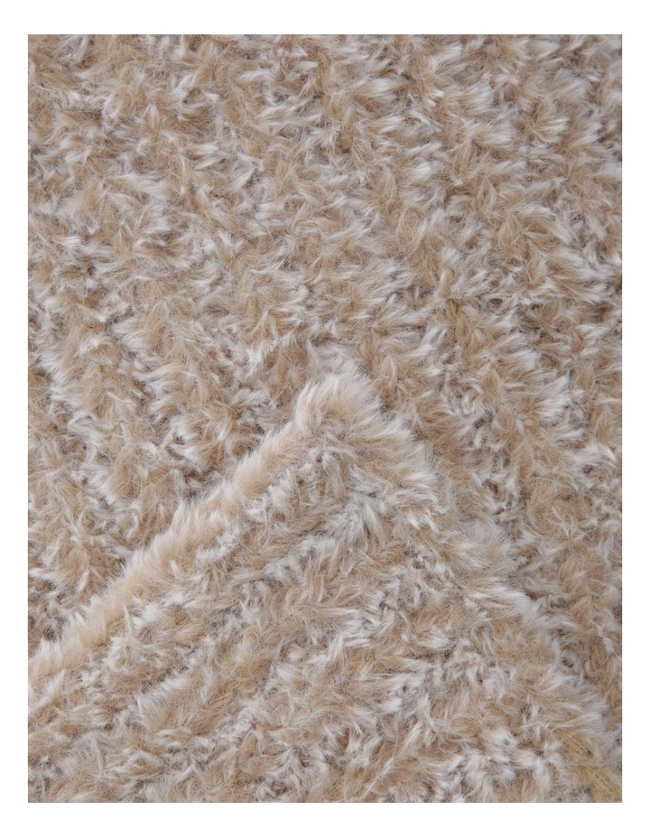 Eastleigh Faux Rabbit Fur Knit Throw in Brown image 2