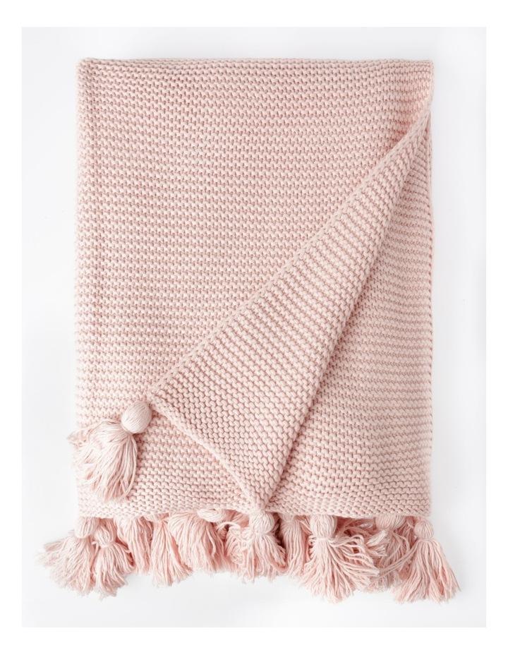 Melaky Tassel Throw in Pink Sand: 130 x 180cm image 1