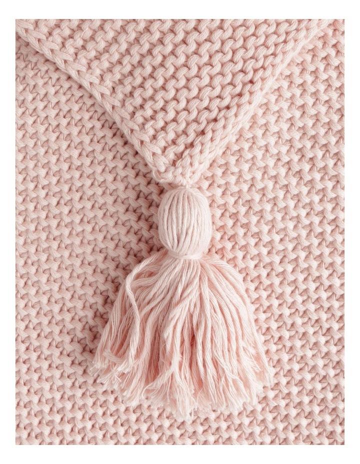 Melaky Tassel Throw in Pink Sand: 130 x 180cm image 2