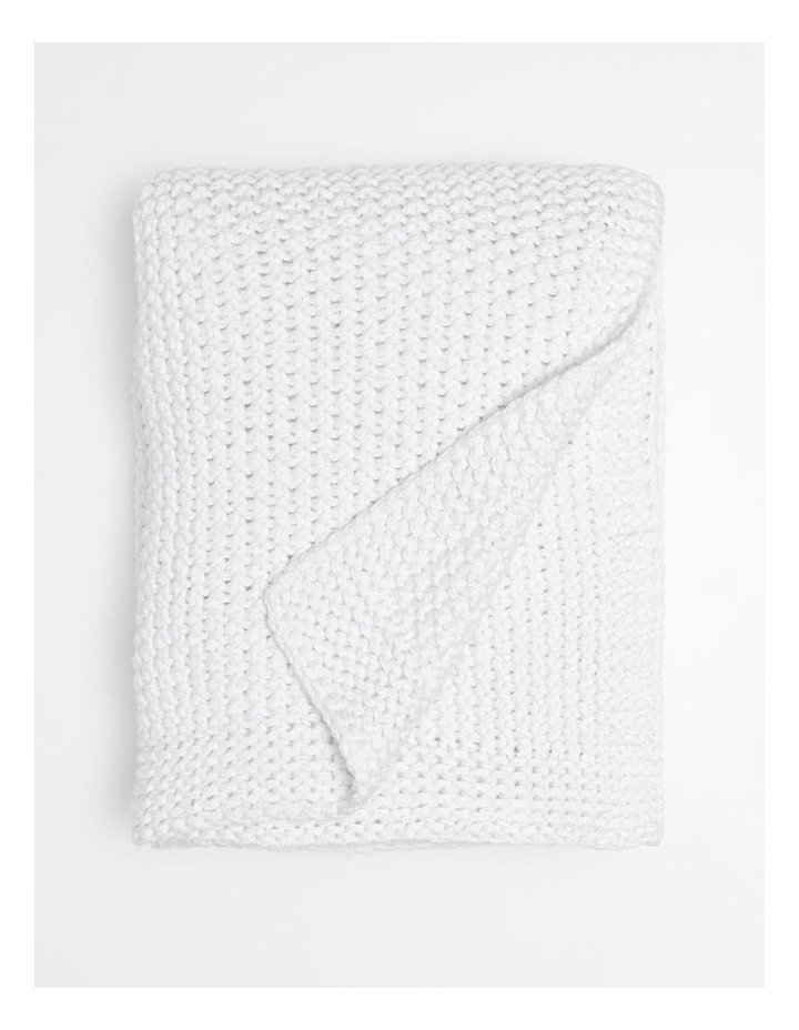 Norwood Knitted Throw in Cloud image 1