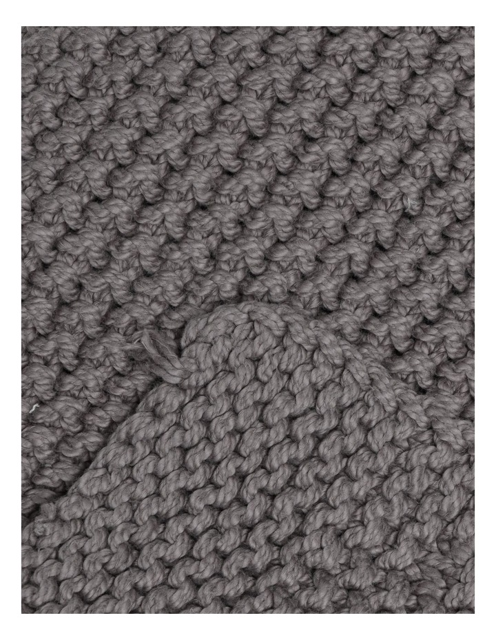 Norwood Knitted Throw in Dark Stone image 2