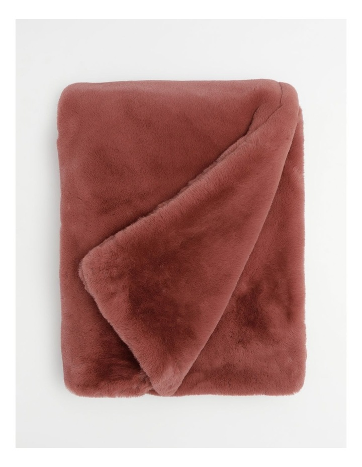 Amelie Faux Fur Throw in Withered Rose image 1