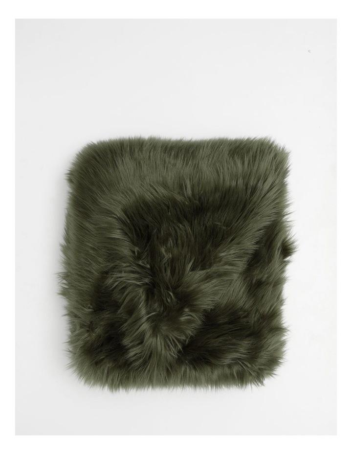 Kenya Faux Fur Throw in Olive image 1