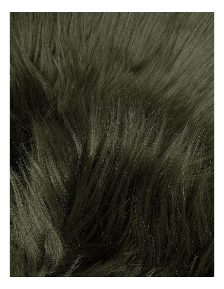 Kenya Faux Fur Throw in Olive image 2