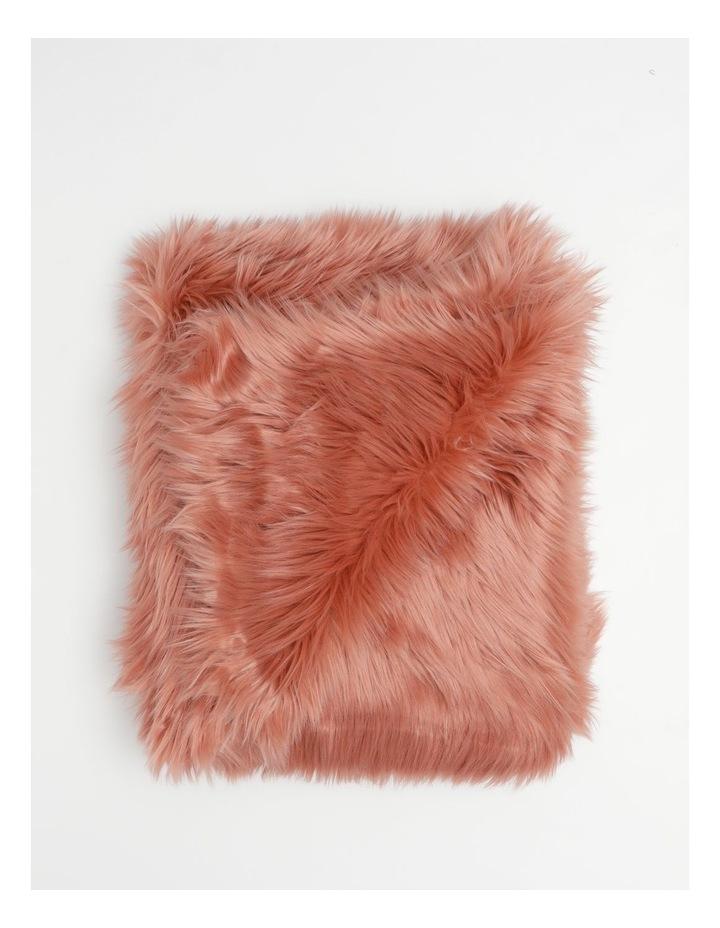 Kenya Faux Fur Throw in Rose image 1
