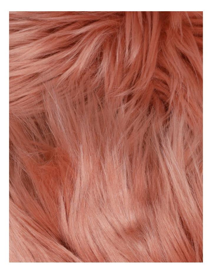 Kenya Faux Fur Throw in Rose image 2