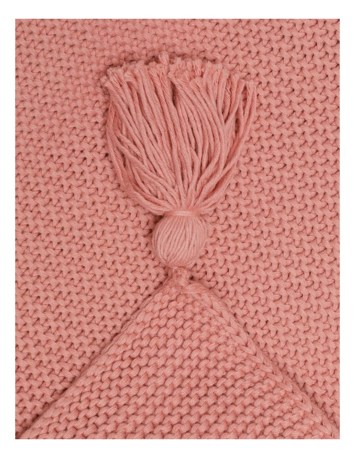 Melaky Knitted Tassel Throw in Pink Clay image 2