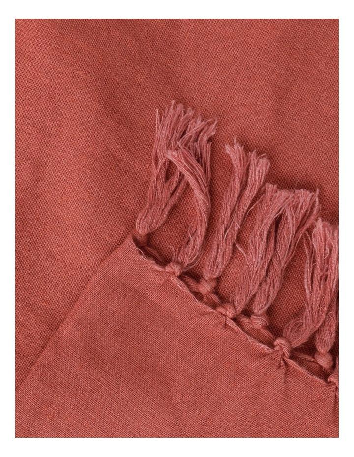 El Blanca Linen Throw in Teracotta image 2