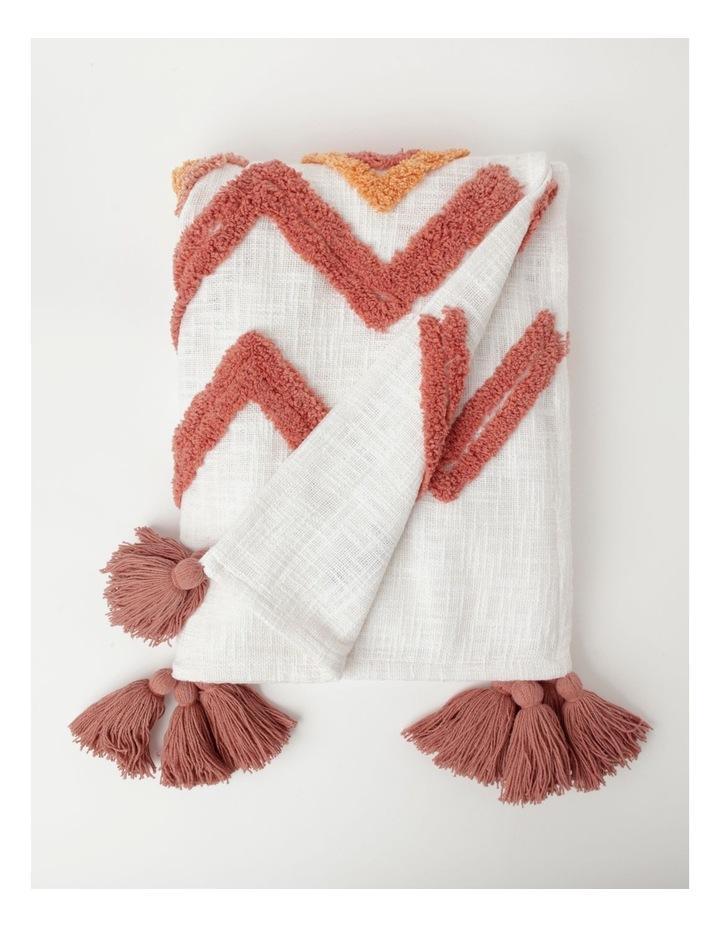 Vue Riverland Turfet Diamond & Zigzag Cotton Throw in Pink image 1