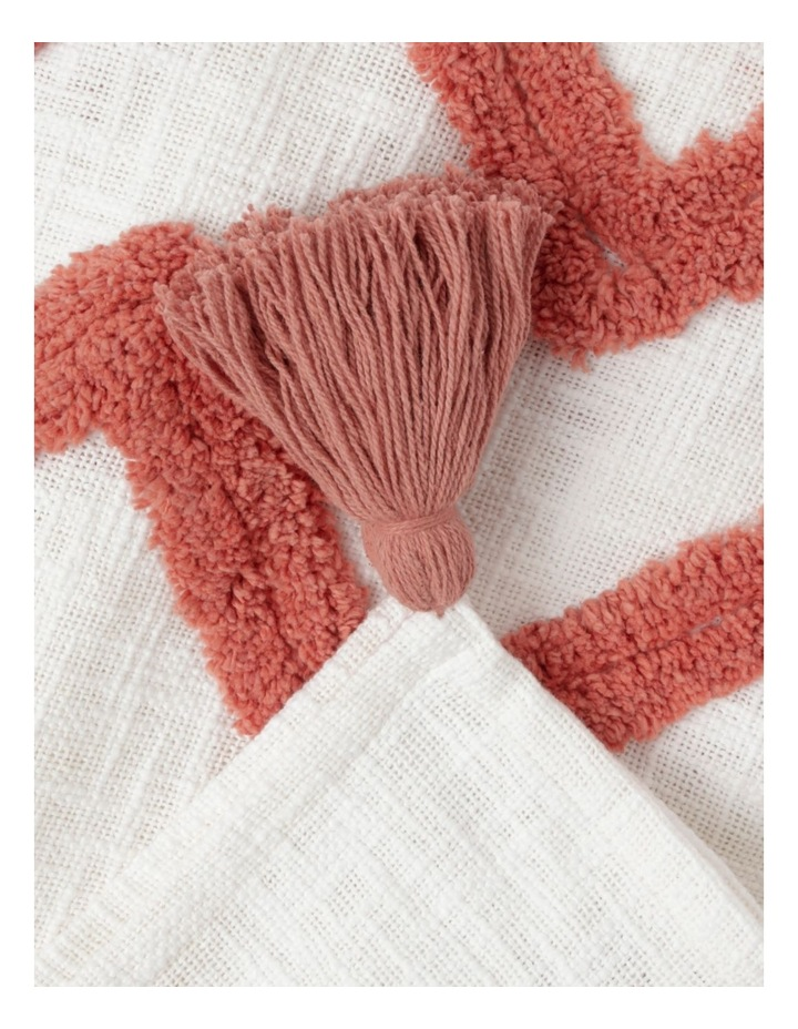 Vue Riverland Turfet Diamond & Zigzag Cotton Throw in Pink image 2