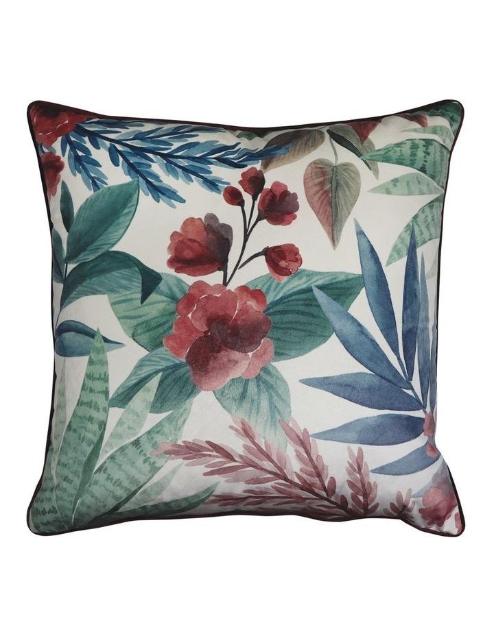 Succulent Velvet Cushion- Ink/Wine 50x50cm image 1
