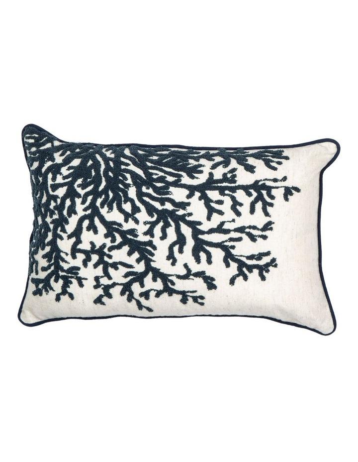 Coral Cushion: Blue/White image 1
