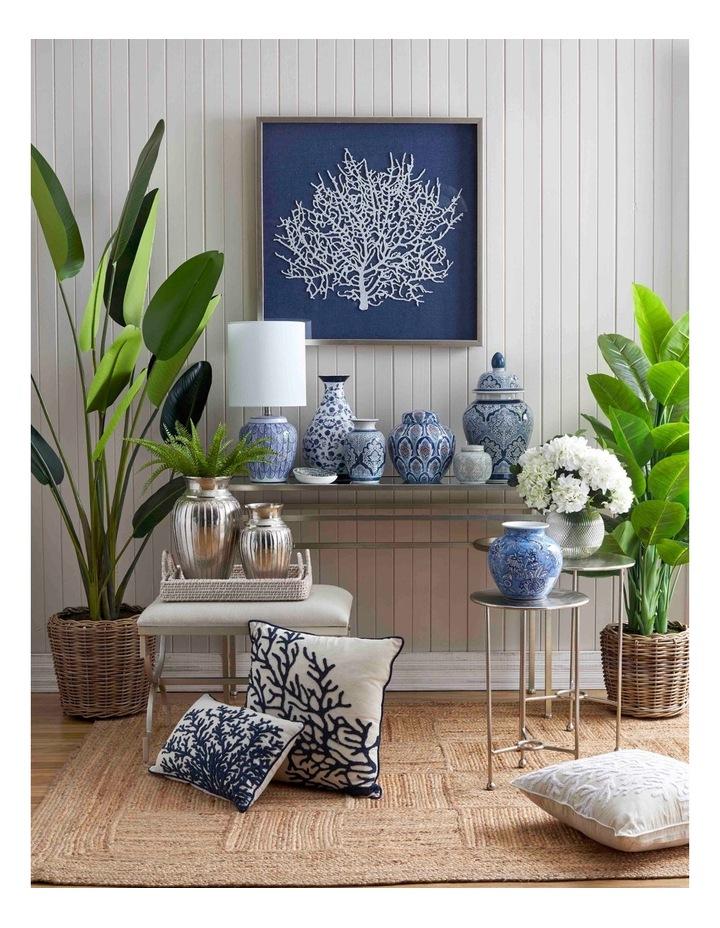 Coral Cushion: Blue/White image 2