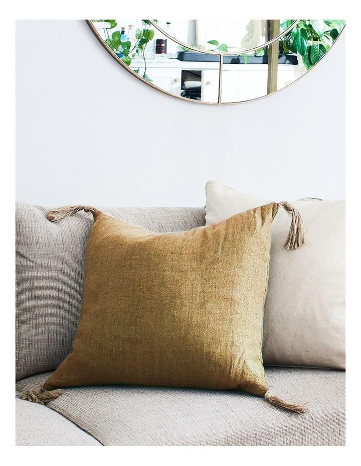 Madras Link Goa Mustard Cushion 55cm x 55cm image 2