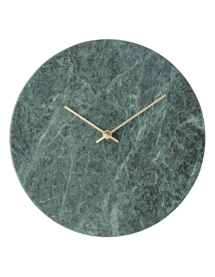 Green Marble Wall Clock  30cm image 1