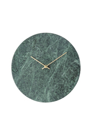 Green Marble Wall Clock  30cm