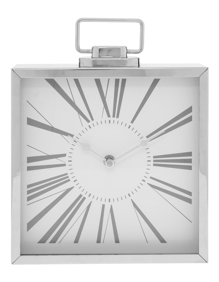 Metal Table Clock Silver image 1