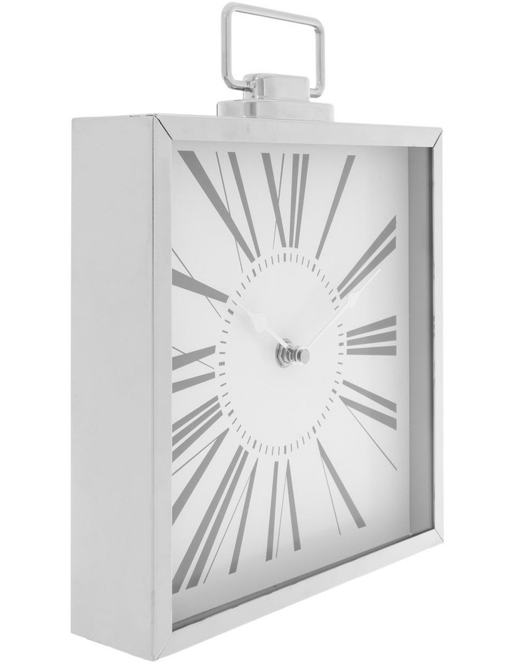 Metal Table Clock Silver image 2
