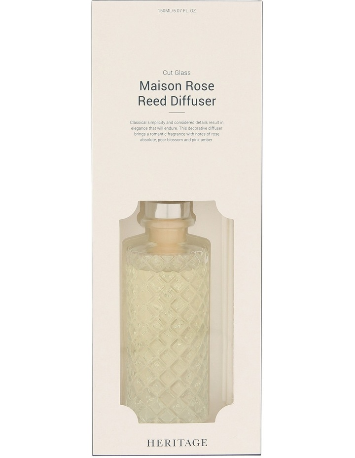 Reed Diffuser In Cut Glass Vessel Maison Rose image 1