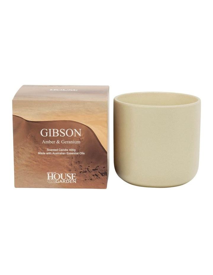 Gibson Amber & Geranium Candle 400g image 1