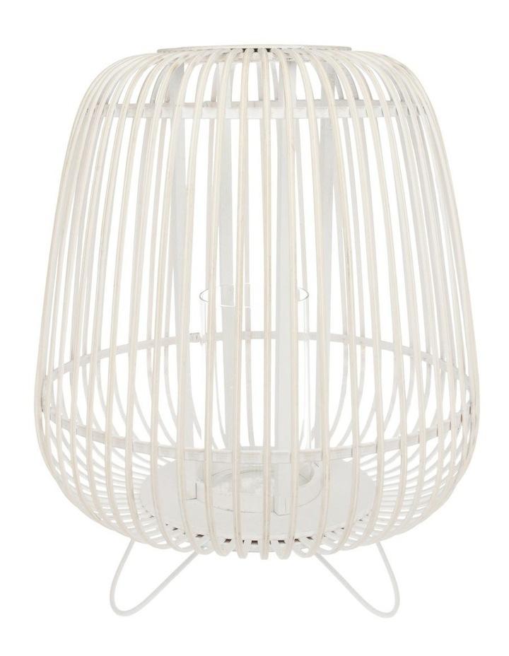 White Washed Bamboo Lantern 50cm image 1