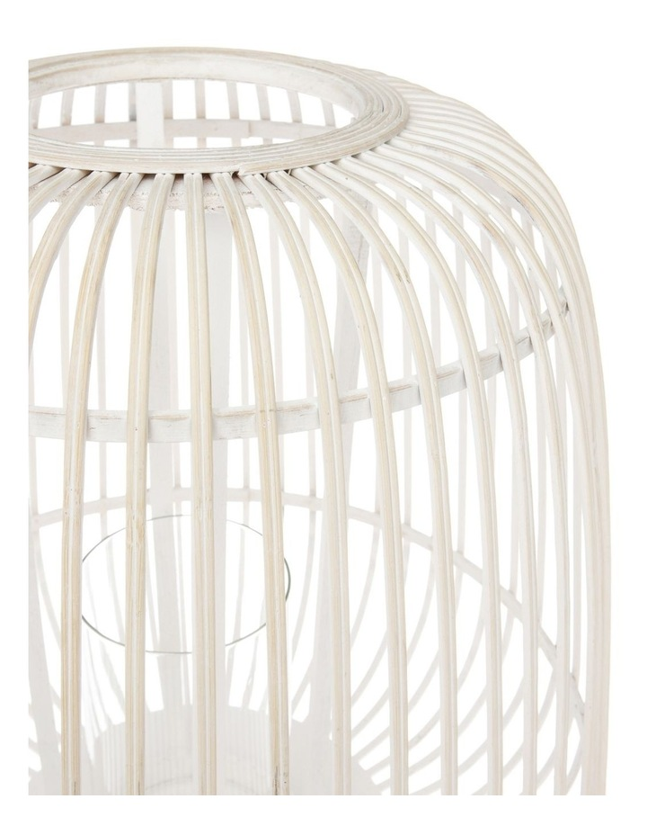 White Washed Bamboo Lantern 50cm image 2