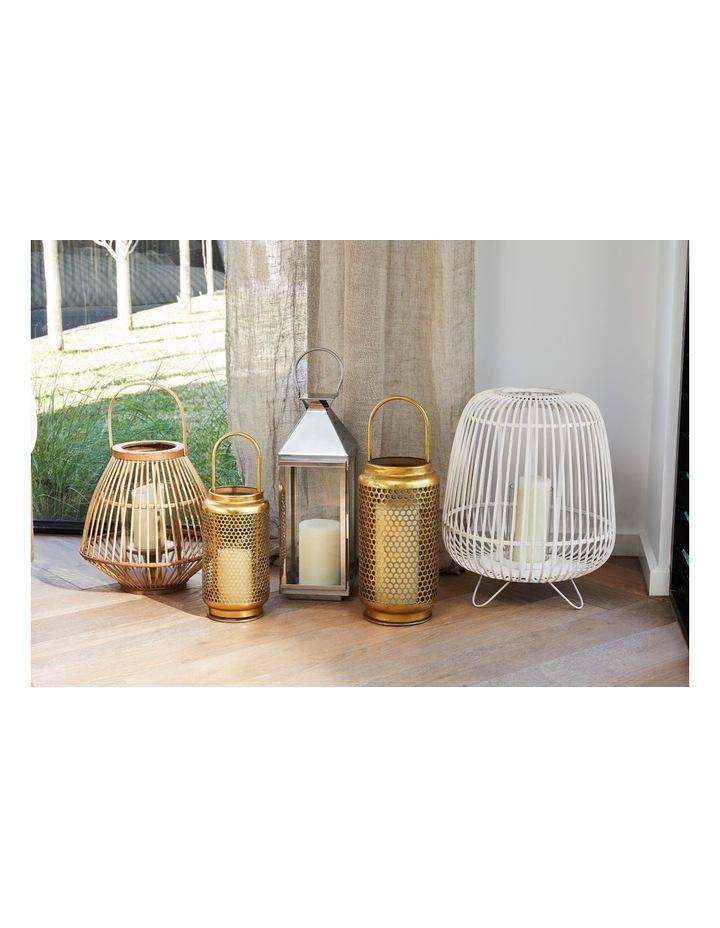White Washed Bamboo Lantern 50cm image 4