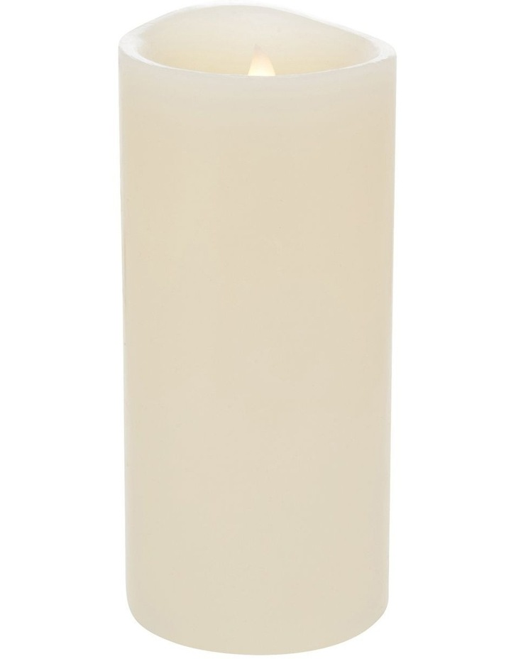 Premium Wax Coated Flickering Flameless Candle 10x22cm image 1