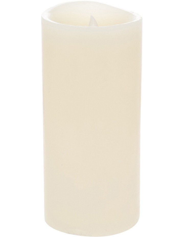 Premium Wax Coated Flickering Flameless Candle 10x22cm image 2