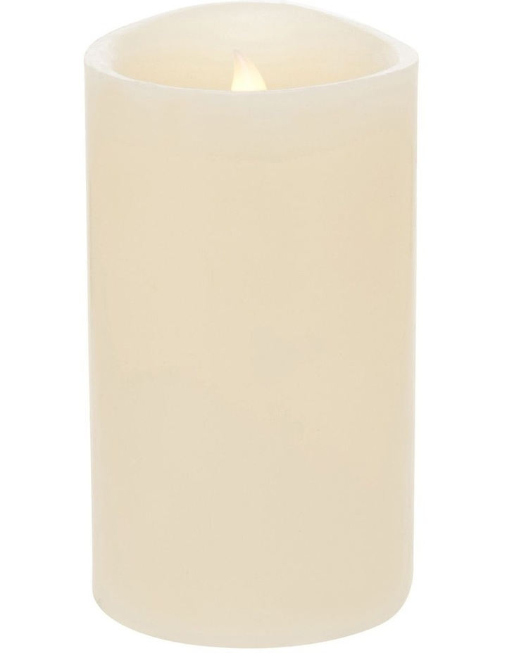 Premium Wax Coated Flickering Flameless Candle 10x17.5cm image 1