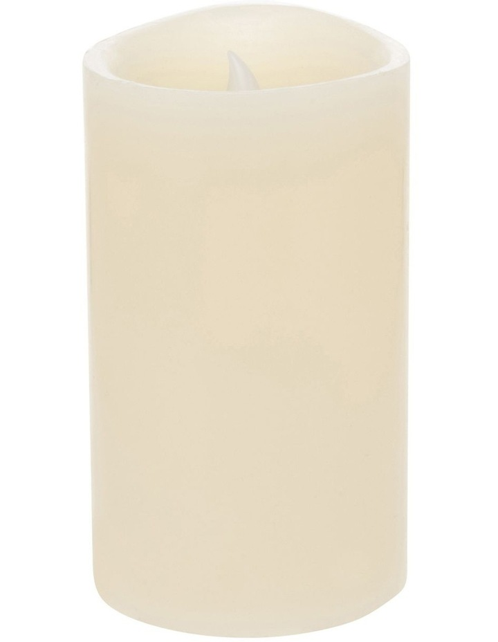 Premium Wax Coated Flickering Flameless Candle 10x17.5cm image 2