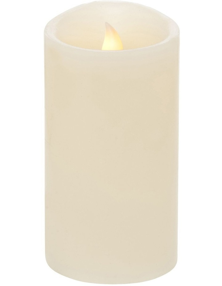 Premium Wax Coated Flickering Flameless Candle 8x15cm image 1