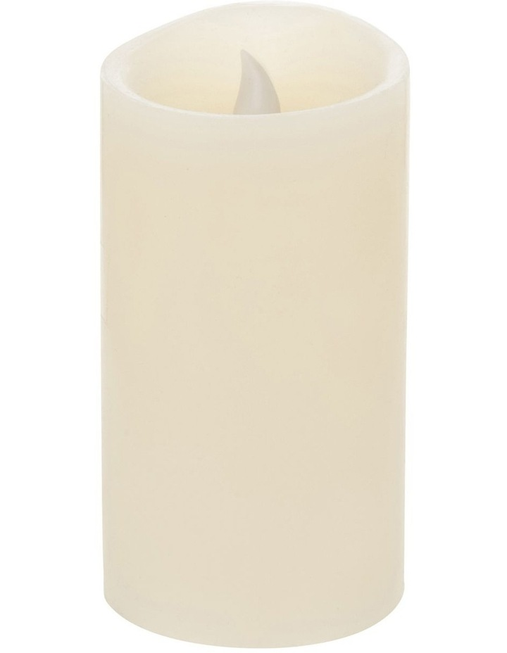 Premium Wax Coated Flickering Flameless Candle 8x15cm image 2