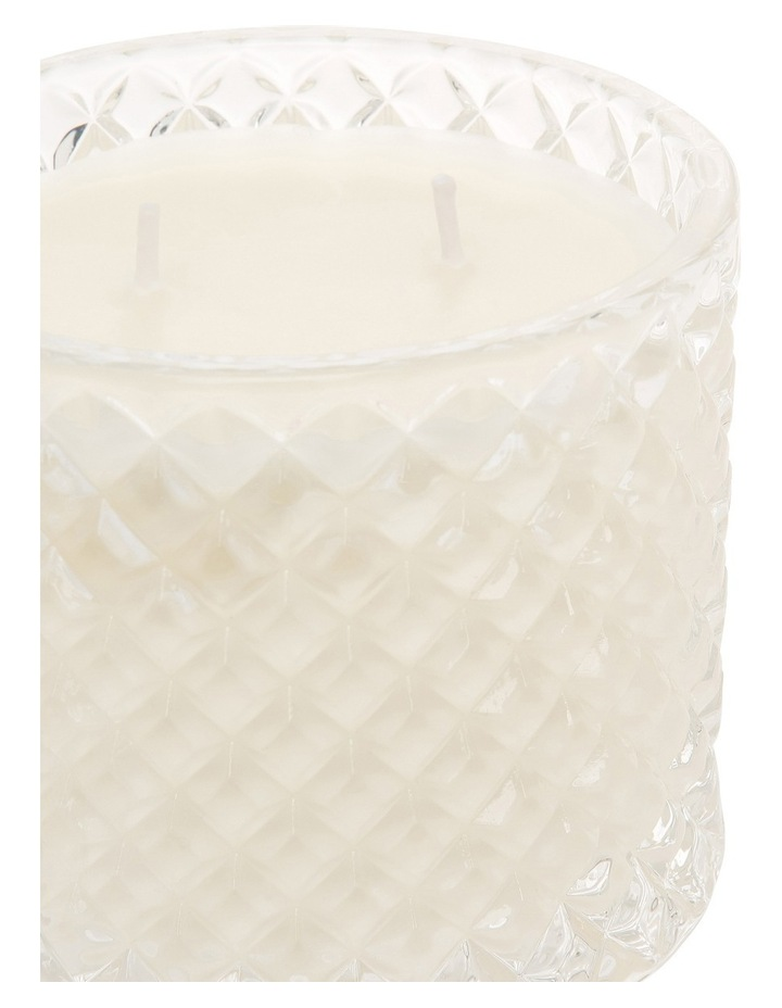 Pure Soy Wax Candle In Cut Glass Vessel Maison Rose image 2