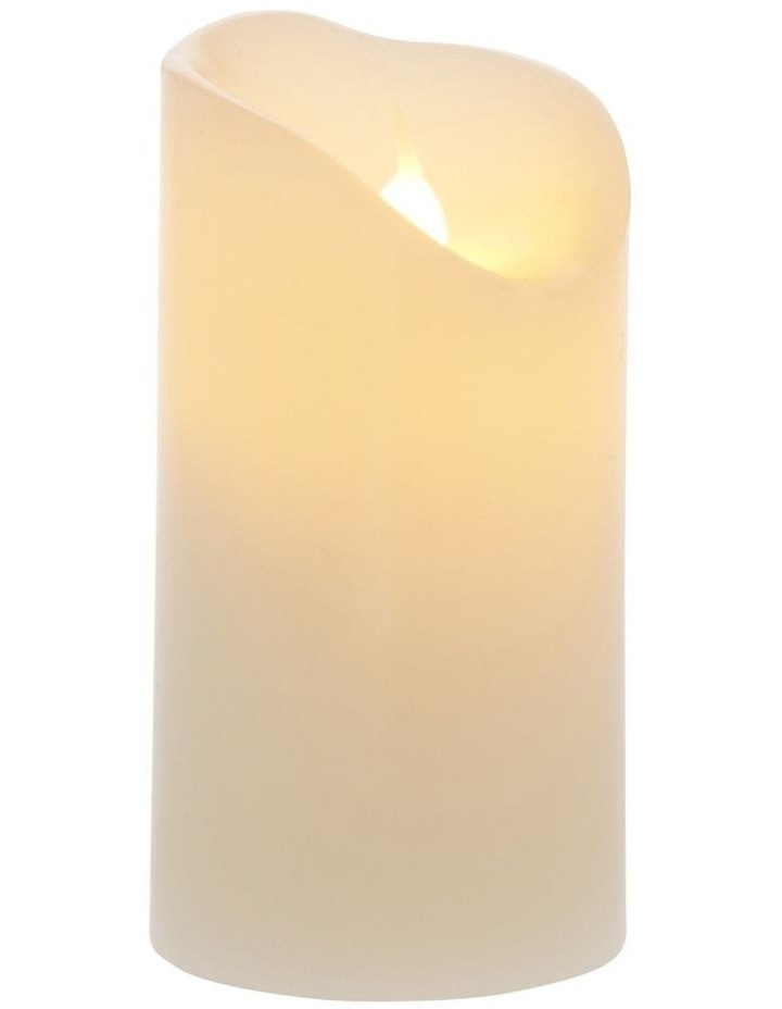 Premium Wax-Coated Flickering Flameless Candle - 10cm image 2