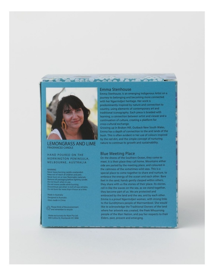 Blue Meeting Place Lemongrass And Lime Candle 460g image 4